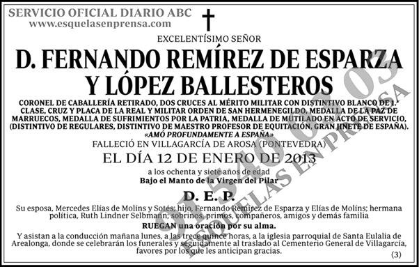 Fernando Remírez de Esparza y López Ballesteros